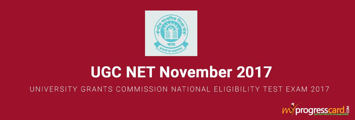 UGC NET November 2017
