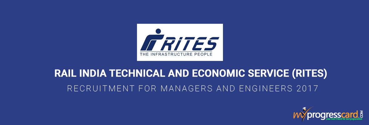 RITES RECRUITMENT FOR MANAGERS AND ENGINEERS 2017