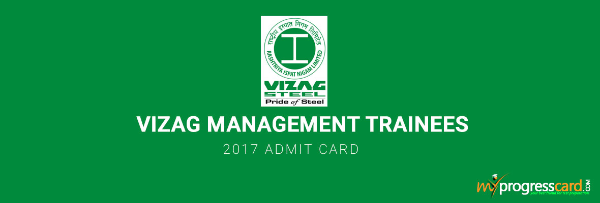 VIZAG MANAGEMENT TRAINEES 2017 ADMIT CARD