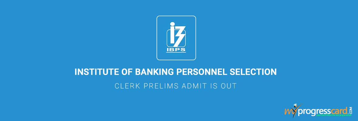 IBPS-Clerk-Prelims-Admit-card