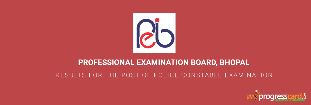 MP VYAPAM RESULTS FOR POLICE CONSTABLE 2017