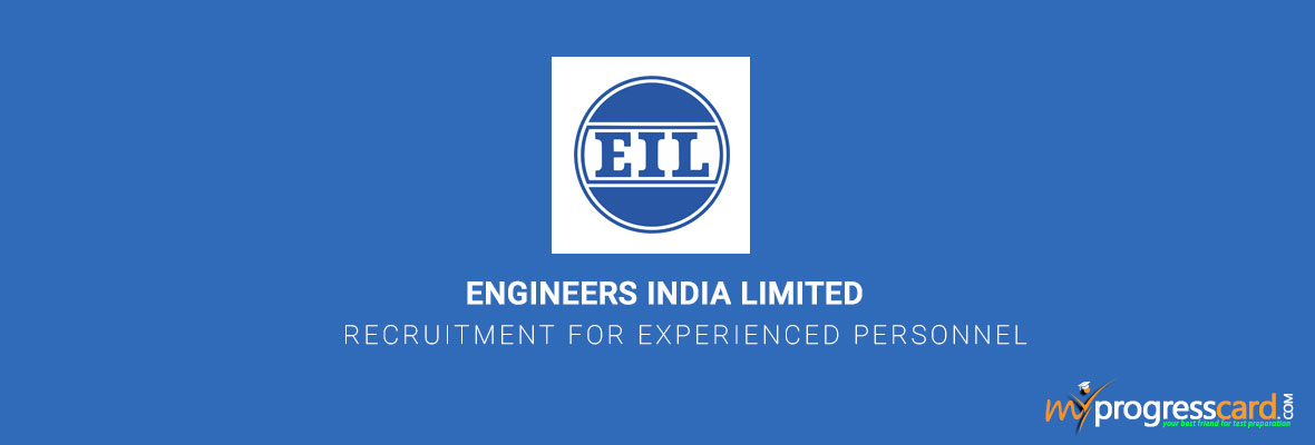 ENGINEERS INDIA LIMITED RECRUITMENT FOR EXPERIENCED PERSONNEL
