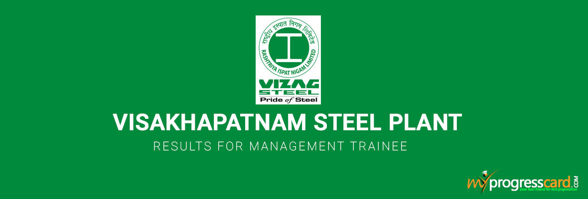 VISAKHAPATNAM STEEL PLANT RESULTS FOR MANAGEMENT TRAINEE