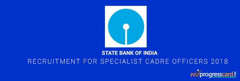 SBI SO Recruitment for Specialist Cadre Officers 2018