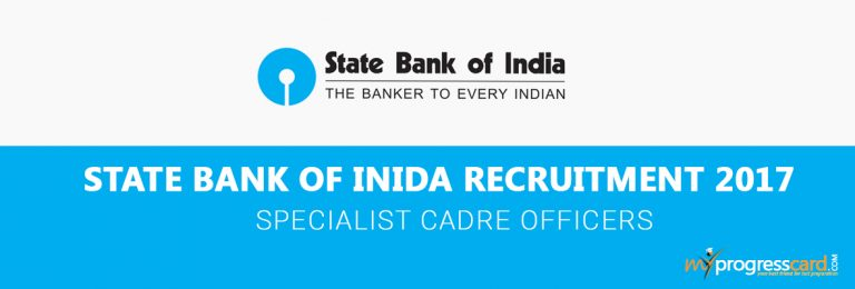 State Bank of India Recruitment for Specialist Cadre Officers( Contractual)