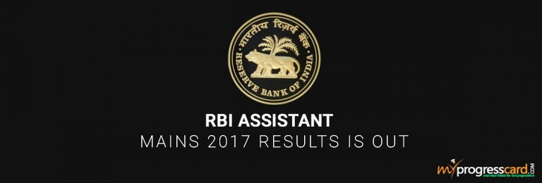 RBI Assistant Mains 2017 Results is Out  List of Shortlisted Candidates
