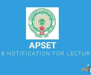 APSET 2018 Notification for Lecturers