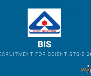 BIS Recruitment for Scientists-B 2018