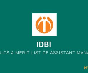 IDBI Bank Results & Merit List of Assistant Managers Out
