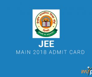 JEE Main 2018 Admit Card