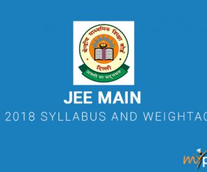 JEE Main 2018 Syllabus and Weightage