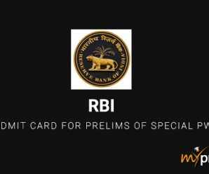 RBI Assistant Admit Card for Prelims of Special PwD Drive Out