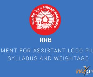 RRB Recruitment for Assistant Loco Pilot (ALP)Syllabus and Weightage