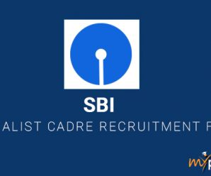 SBI Specialist Cadre Recruitment for SO