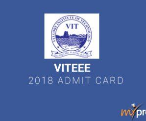 VITEEE 2018 Admit Card