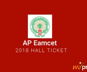 AP Eamcet 2018 Hall Ticket
