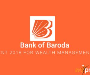 Bank of Baroda Recruitment 2018 for Wealth Management Services