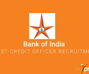 Bank of India Specialist Credit Officer Recruitment 2018