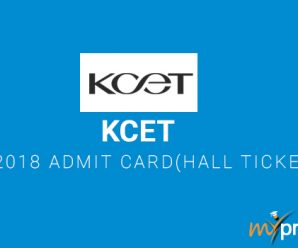 KCET 2018 Admit Card(Hall Ticket)