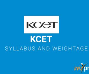 KCET 2018 Syllabus and Weightage