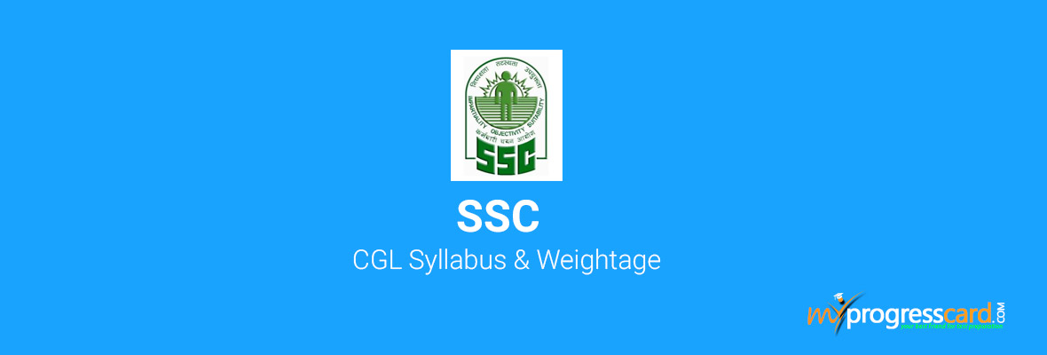 SSC CGL 2018 Syllabus with Weightage