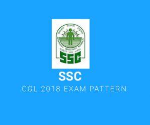 SSC CGL 2018 Exam Pattern