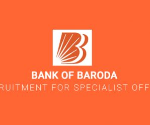 Bank of Baroda Recruitment for Specialist Officers