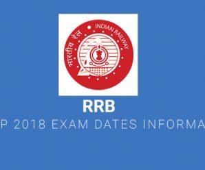 RRB ALP 2018 Exam Dates Information