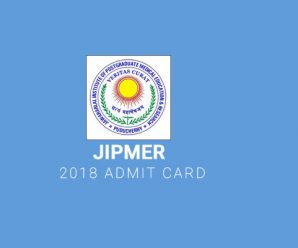 JIPMER 2018 Admit Card
