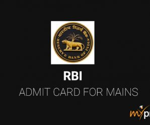 RBI Assistant Admit Card 2018 for Mains is Released