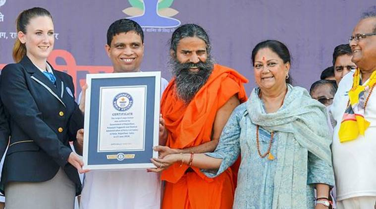 One lakh people perform Yoga in Rajasthan, create world record