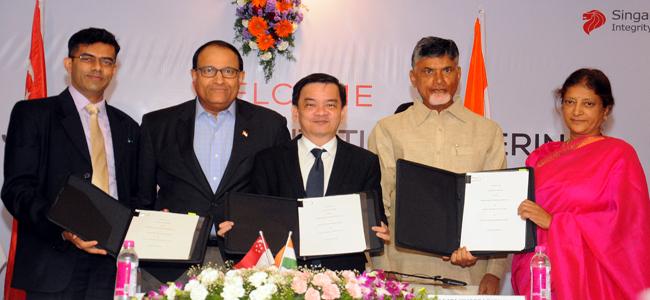 Singapore sign MoU for Amaravati development