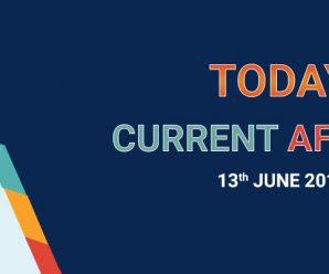 TODAY'S CURRENT AFFAIRS – 13-JUNE – 2018 – MyProgressCard