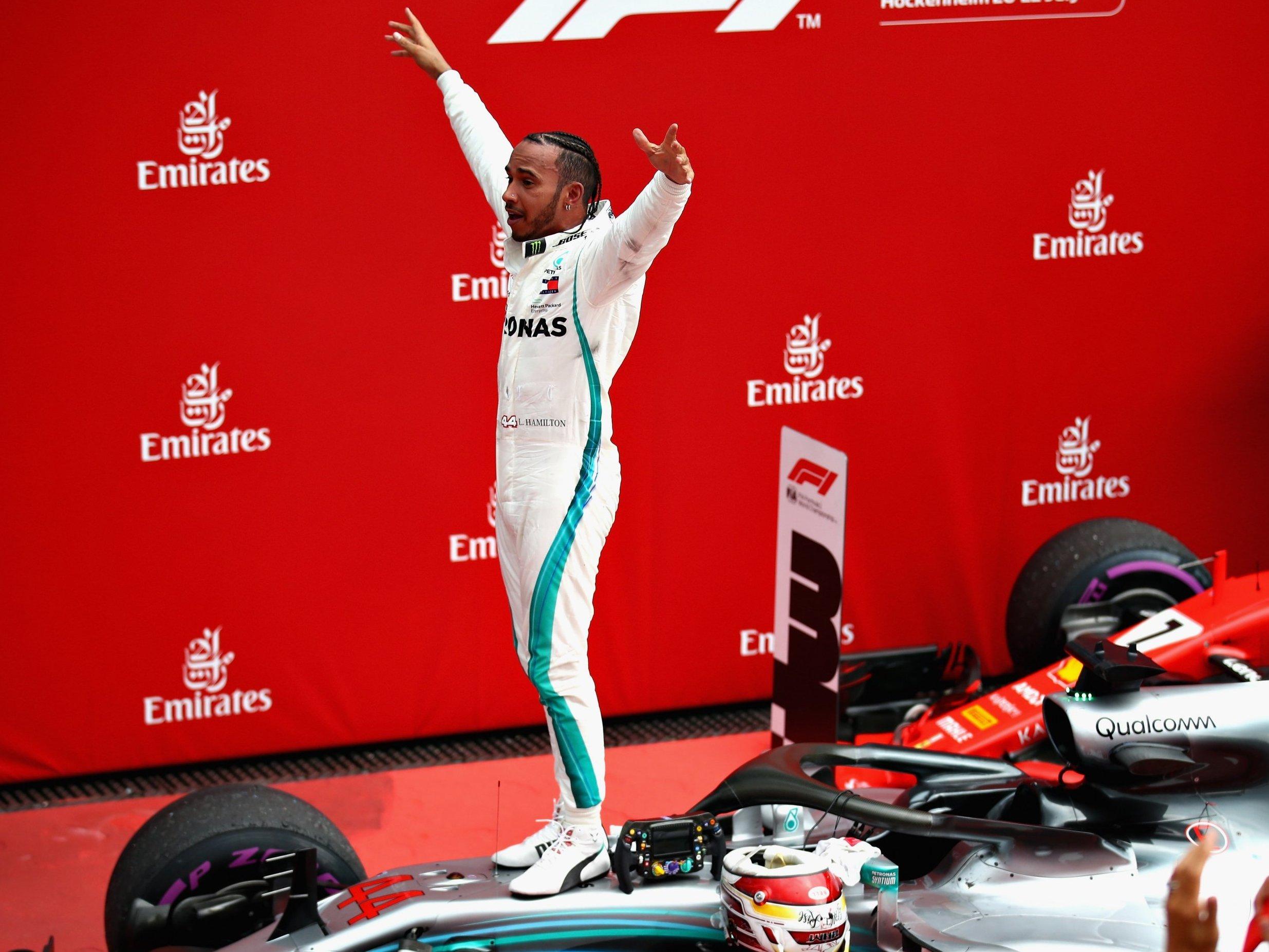Lewis Hamilton won German