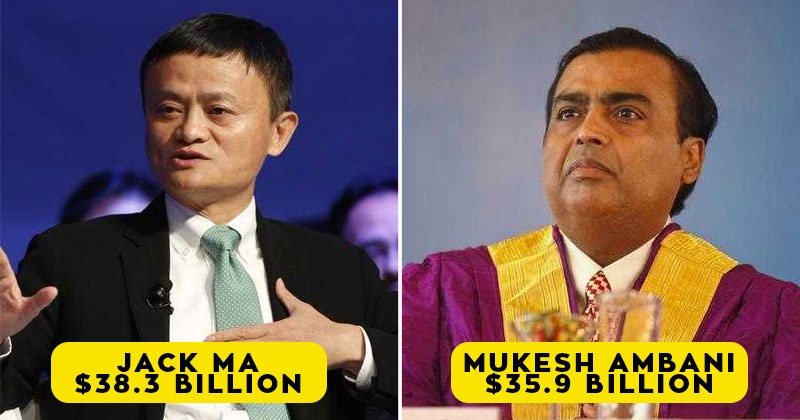 Mukesh Ambani become Asia's richest person, Now Jack Ma is at Second Spot