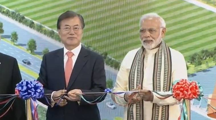 PM Modi and Moon Jae-in inaugurated world's largest mobile factory in Noida