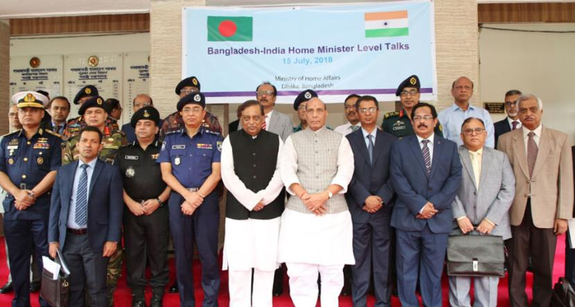 Rajnath Singh co-chairs the 6th meeting of India-Bangladesh