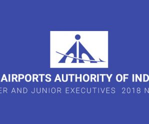 Airports Authority of India (AAI) for Manager and Junior Executives  2018 Notification